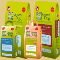 Green Dog holistic health food for dogs from The Pet Shop