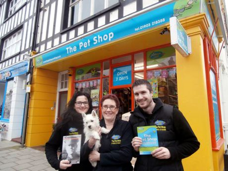 Come and visit us at The brightly coloured Pet Shop Worthing
